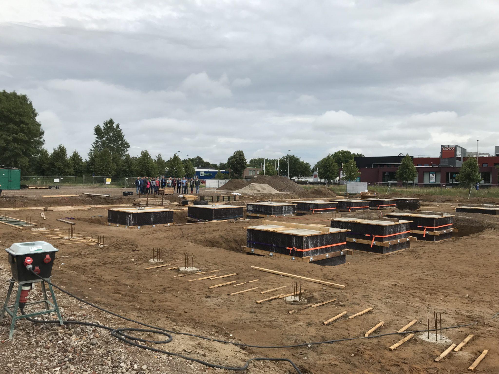 Vakantieborrel nieuwbouw terrein